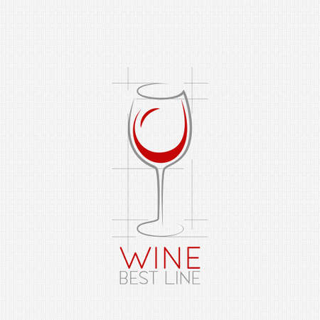 red grape: wine glass design background Illustration