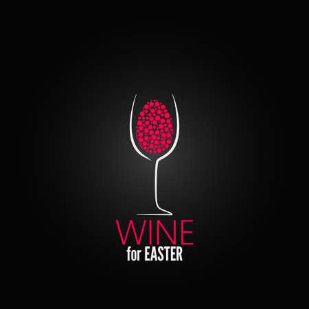 copa de vino: Pascua vino dise�o de fondo Vectores