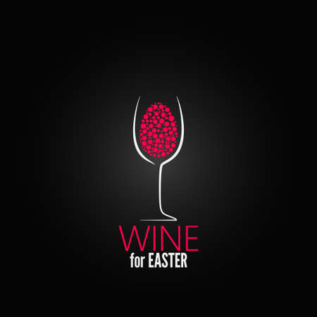 wine easter design background Vector
