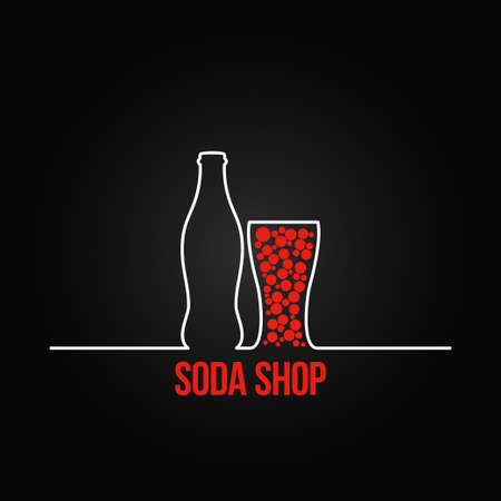 soda bottle splash design menu backgraund 8 eps version Vector