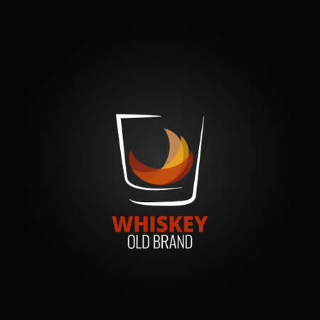 whiskey glass: whiskey glass splash design background 10 eps version Illustration