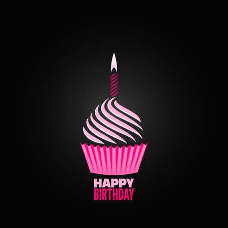 velas de cumpleaños: menú de diseño de la magdalena de fondo