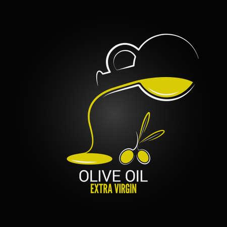 oliva de fondo del menú de diseño aceite 8 eps Vectores