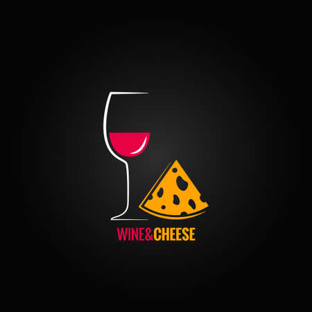 wine and cheese design background  Illustration