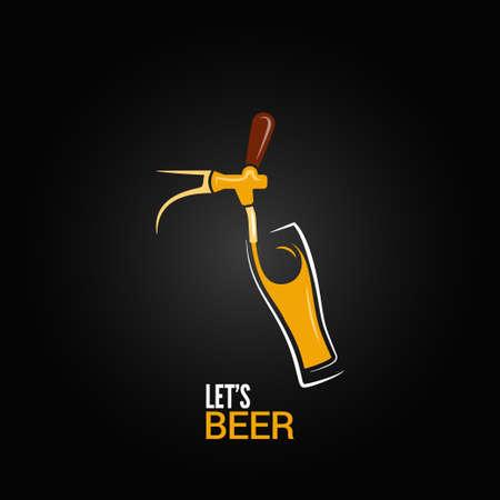맥주 꼭지 유리 디자인 배경