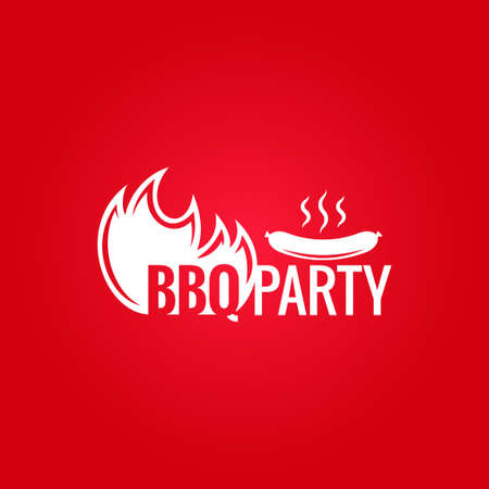 barbecue fire design menu background Vector