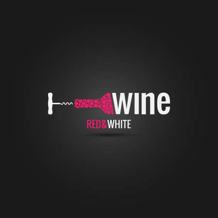 wine cellar bottle design background 10 eps Illustration