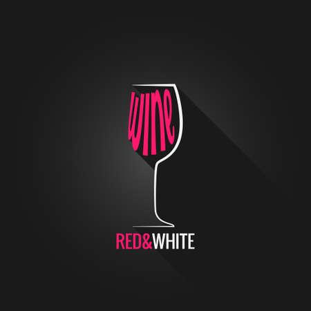 wine glass design background black Vector