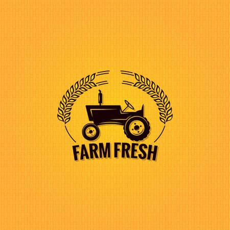 old tractor: landbouwtractor ontwerp achtergrond vintage Stock Illustratie