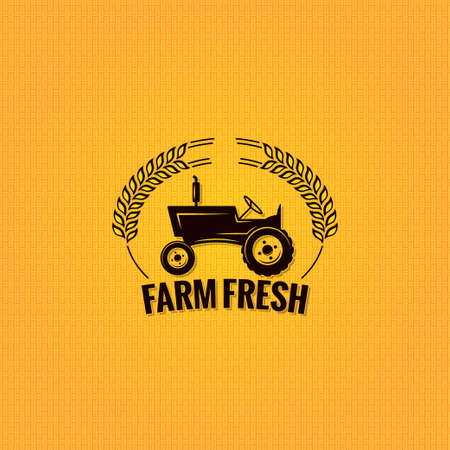 farm tractor design background vintage