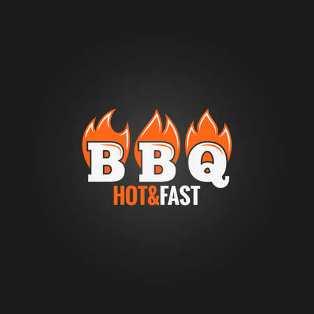 barbecue fire sign design background Vector