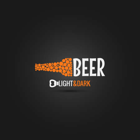 beer in bar: beer bottle opener design background Illustration