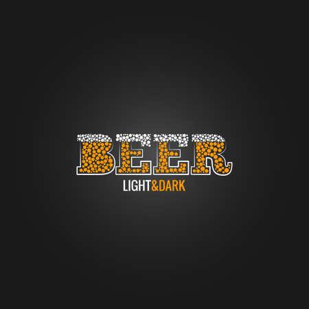 black beer: beer design menu background black