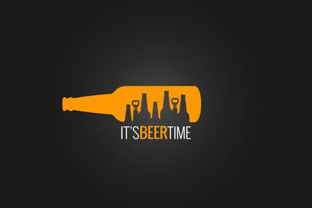 vasos de cerveza: botella de cerveza de diseño de concepto de fondo Vectores