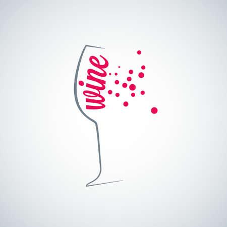 wine glass splash menu background Vector