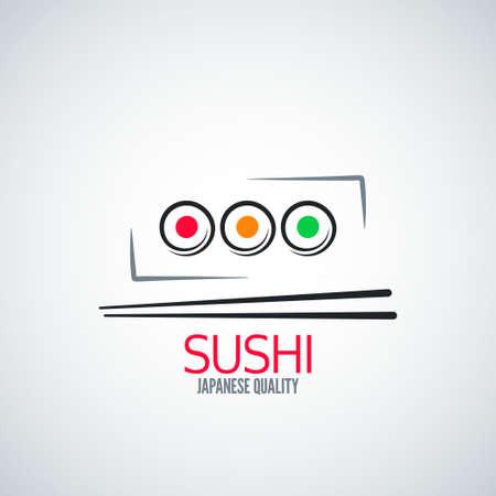 sushi roll: Menu sushi piastra rullo sfondo