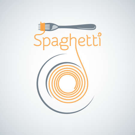 hot plate: pasta de espaguetis tenedor placa de fondo