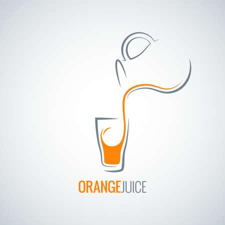 オレンジ ジュースのガラス瓶の背景