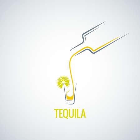 Botella de tequila menú vidrio de fondo Foto de archivo - 29778386