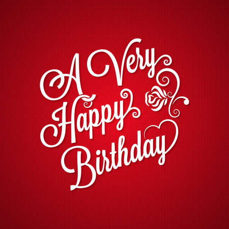 flores de cumpleaños: cumpleaños fondo letras del vintage Vectores