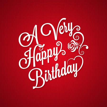 birthday vintage lettering background
