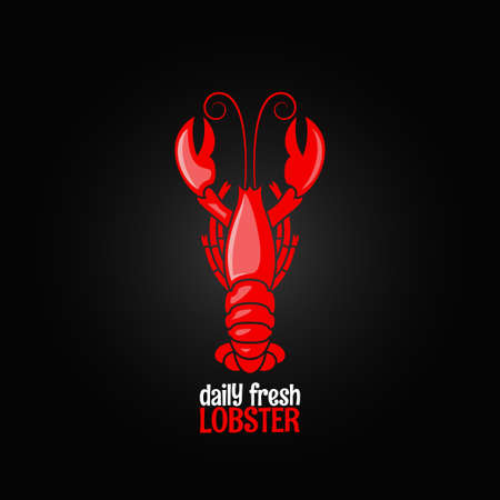 lobster: lobster seafood menu design background Illustration