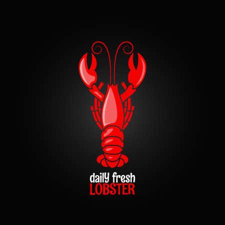 lobster seafood menu design background Illustration