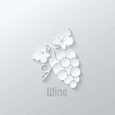 black berry: wine grapes paper cut design background illustration