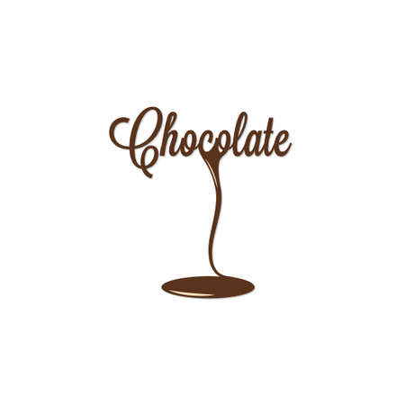 poured: chocolate isolated sign Illustration