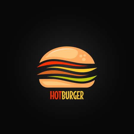 burger symbol hamburger icon design background