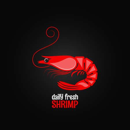 shrimp seafood menu design background 8 eps Illustration