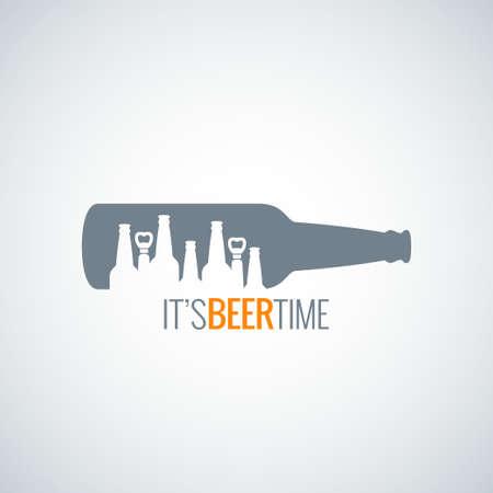 맥주 병 도시 개념 디자인 배경 8 EPS 일러스트
