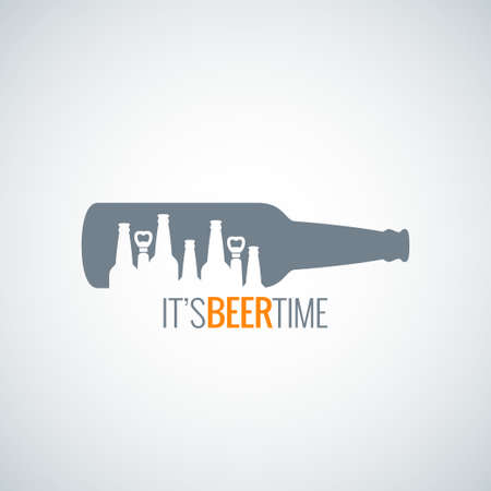 beer bottle city concept design background 8 eps