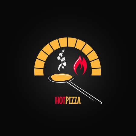 pizza oven ontwerp vector achtergrond 8 eps Vector Illustratie