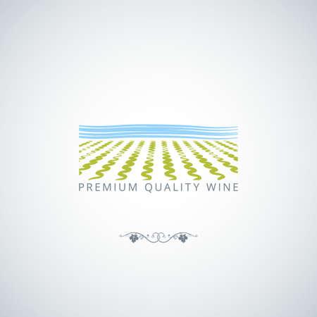 grape field: wine field vector design background 8 eps Illustration