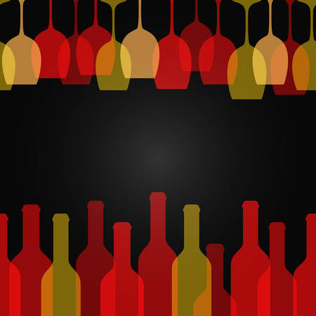 wine glass bottle art design background 10 eps