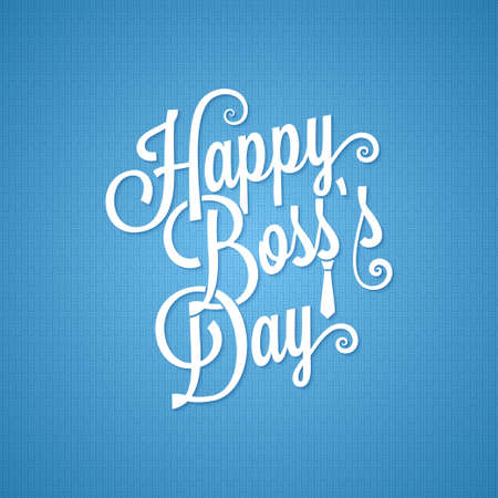 boss day vintage lettering background Vector