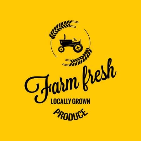old farmer: farm fresh design background
