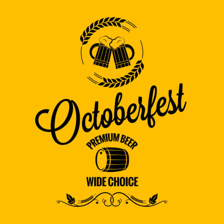 october fest beer design background