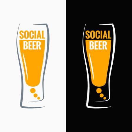 beer glass social media concept background  イラスト・ベクター素材