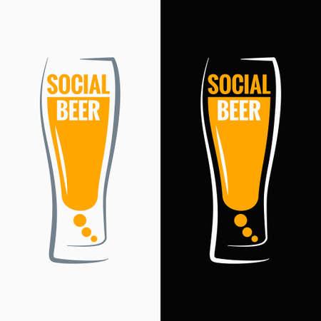beer glass social media concept background Illustration