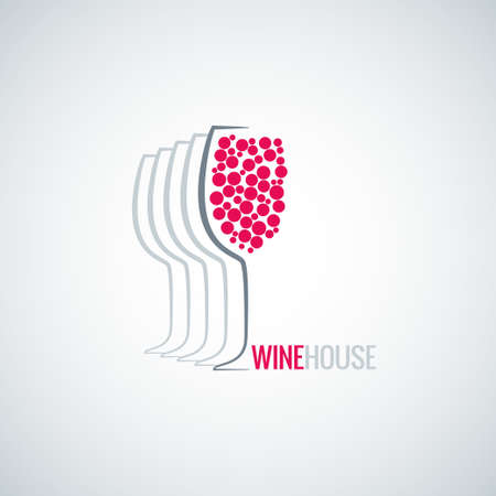wine glass abstract background