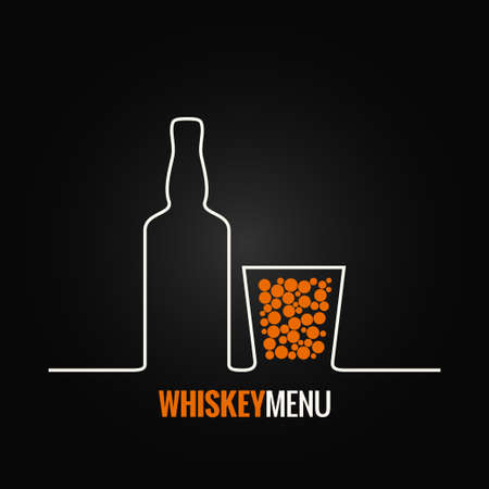 rum: whiskey glass bottle menu background