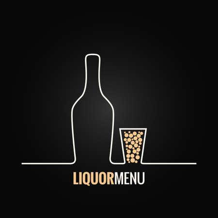 botella de licor: botella de licor tiro de vidrio de diseño de fondo