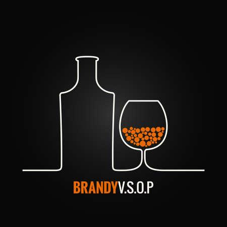 brandy glass: brandy glass bottle menu background