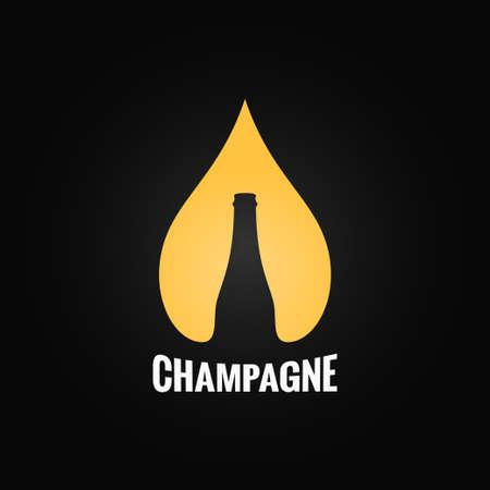 champagne glazen fles druppel achtergrond Stock Illustratie