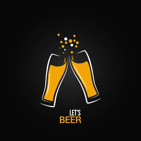 ビール ガラス飲み物スプラッシュ デザインの背景  イラスト・ベクター素材