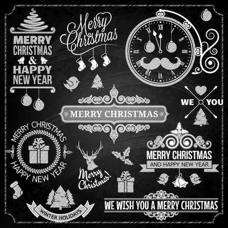 Christmas ornaments chalk set