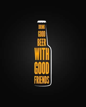 ビール瓶デザインの背景