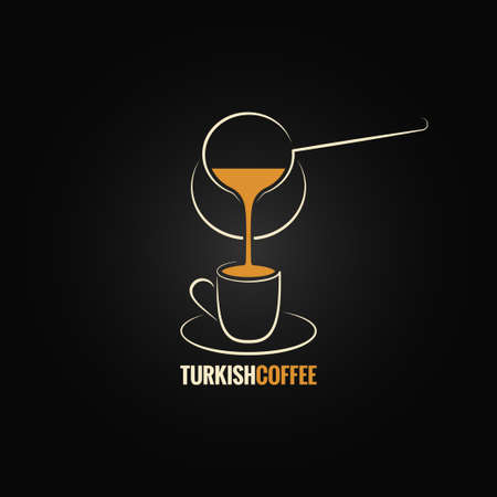coffee cup turkish recipe background